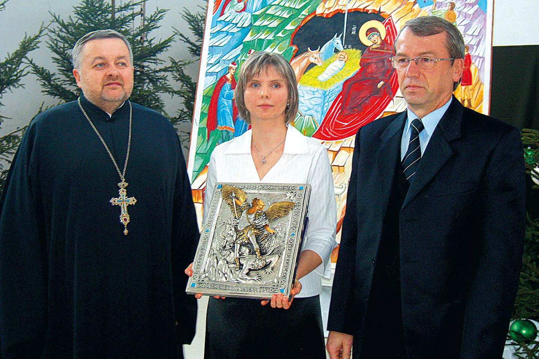 Chór Parafii Prawosławnej Podwyższenia Krzyża Pańskiego w Horostycie na festiwalu kolęd w Terespolu